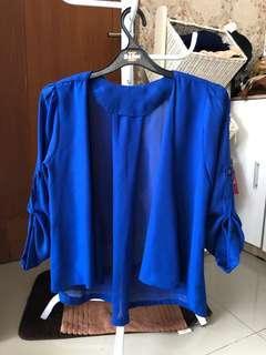 Cardigan Outer Biru
