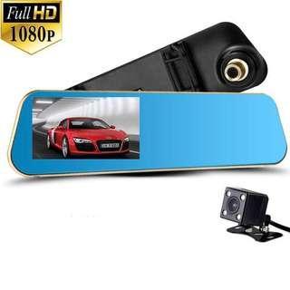 "Vechicle Blackbox DVR Dual Camera 1080 Full HD 4.3""inch LCD Rear-View Car Camcorder Camera"