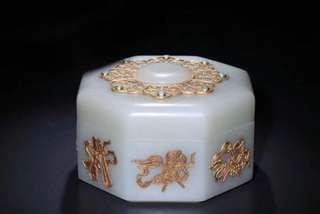 Imperial Hetianyu jade box, Qing Qianlong