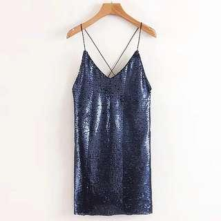 Sequins Strap Sexy Dress