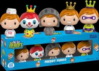 Funko Pop -Freddy Funko pint sized Heros set of 5 (Funko Exclusive)