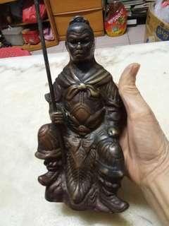 舊紅黃銅孫悟空高19.7cm