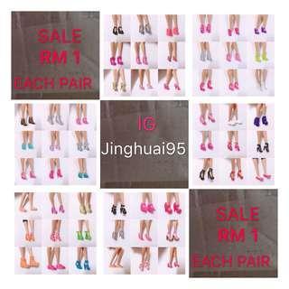 Barbie shoes SALE Rm1 Each pair 🔥