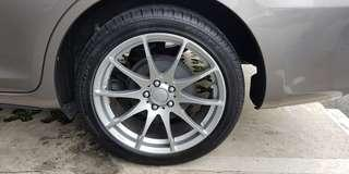 "Toyota wish 17"" rims with 2018 tyres"