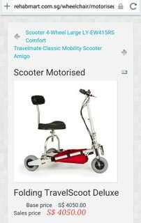 Travelscoot motorised scooter