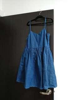 comfortable denim dress M rockabilly