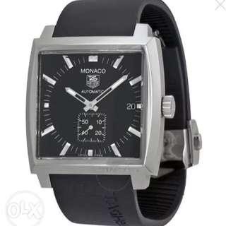 TAG HEUER Monaco Black Men's Watch