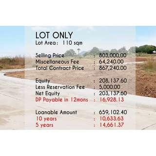 Lot for Sale in Silang Cavite - 110sqm