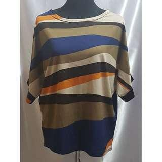 Preloved Unbranded Striped Blouse (Size details on Description)