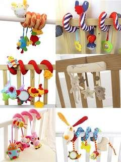 🚚 🌟PM for price🌟 🍀Baby Pram Cot Multi-purpose Sound Soft Plush Toy🍀