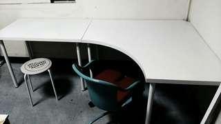 Ikea轉角工作桌(白色)
