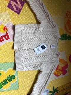 GAP baby 米色針織外套6-12month