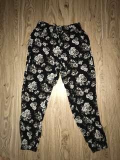 Abercrombie black floral pants
