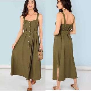 String Slit Dress