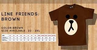 Line Friends T shirts