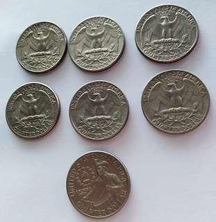 Bicentennial and quarter dollar