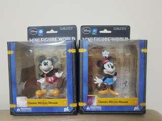 Mickey & Minnie collectibles @ $15 each.