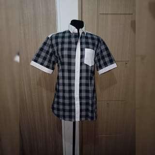 Black & White Checkerd Man Polo
