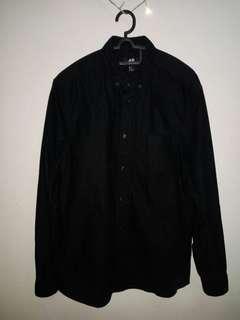 Kemeja H&M Black preloved