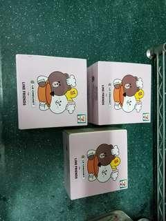 全新7-11 x Line 糖果盒3個,未拆盒$40@1