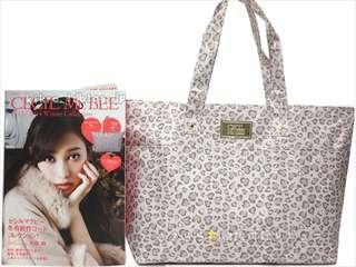 Cecil Mcbee 淺粉紅 豹紋 拉鍊 單膊/手提(Tote Bag)袋 ~ 🇯🇵日本雜誌附錄袋