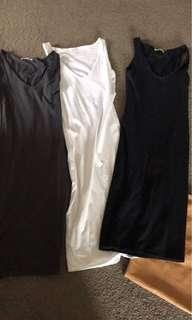 3 supre pencil stretch dresses sz small (like Kookai)