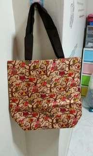 A4 size tote bag Owl design