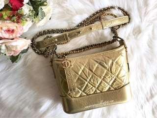 Chanel Gabrielle Small Hobo Bag-Metallic Gold
