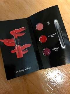 Giorgio Armani/奢華訂製緞光水唇膏/三色試用卡