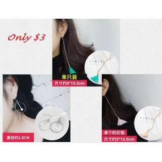 Big Offer~ ONE pair earrings only RM3