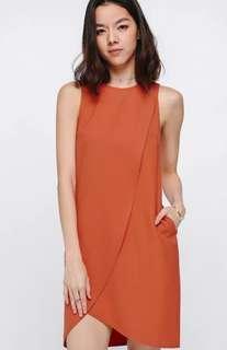 Love Bonito LB Adra Asymmetrical Layer Dress in Colour Sienna Size M