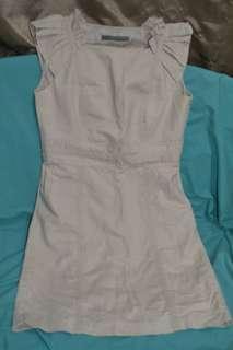 Zara Basic Dress Beige