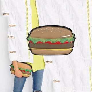 現貨最後/聖誕節禮物首選 NewLook 漢堡 甜甜圈 手拿包