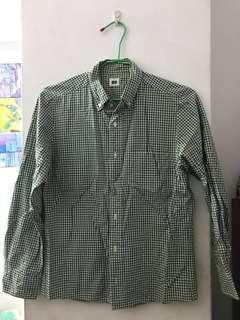 🚚 uniqlo 格子襯衫 長袖襯衫