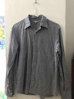 🚚 uniqlo 格子長袖襯衫