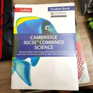 (BRAND NEW SEALED) IGCSE Cambridge Combined Science Collins