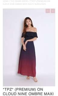 Topazette off shoulder dress