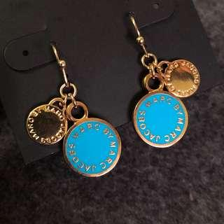 Marc by Marc Jacobs Earrings Blue 藍色拼金吊耳環