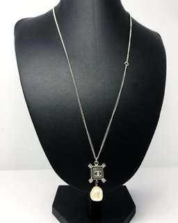 CHANEL LOGO PEARL STONE LONG NECKLACE B14S 187005792