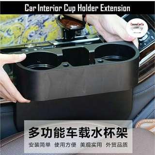 Car Interior Cup Holder Extension Universal Bottle Drink Stand Mount Storage Black Colour