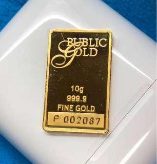 Public Gold Bars - Original - Weight (10-g only) 🇸🇬🇸🇬🇸🇬🇸🇬🇸🇬