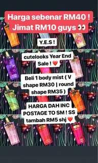 VICTORIA SECRET BODY MIST YEAR END SALE
