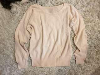 Pale Pink Pullover Sweater