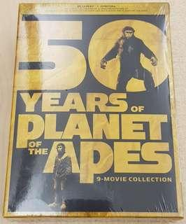50 years of Planet of the Apes Complete 9 Movie Collection Blu-ray and 4k Boxset   12 discs set