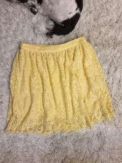 Yellow Lace H&M Skirt