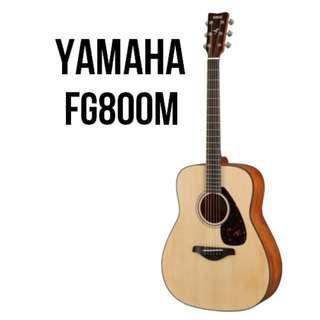 Yamaha FG800M Solid Spruce Top Acoustic Guitar (Matt Finish)