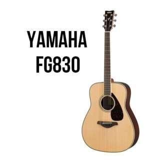Yamaha FG830 Solid Spruce Top Rosewood Body Acoustic Guitar