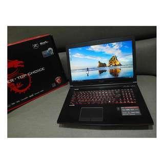 【出售】MSI GE72 2QE i7 四核心 雙硬碟 電競筆電 盒裝完整