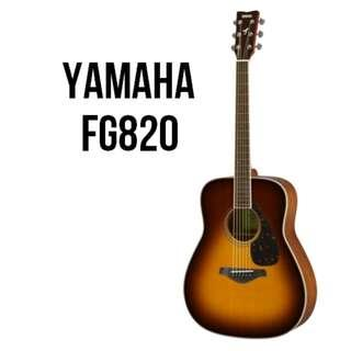 Yamaha FG820 Solid Spruce Top Acoustic Guitar
