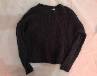 H&M Wool Black Sweater
